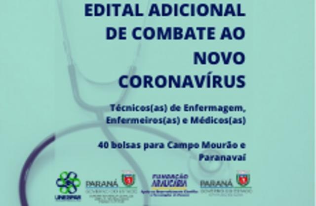 Inscrições na Unespar para profissionais da saúde em edital de combate ao coronavírus em Paranavaí e Campo Mourão