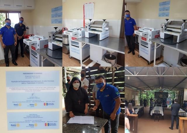 Fraternidade o Caminho de Campo Mourão recebe entrega de equipamentos do Rotary Gralha Azul
