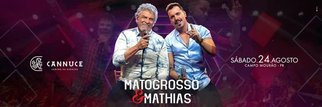 Show da dupla Mato Grosso e Mathias no palco do Cannuce Centro Eventos