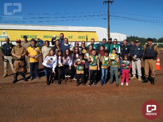 BPFron e órgãos de segurançarealizam campanha educativa em Marechal Cândido Rondon-PR