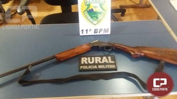 Patrulha Rural apreende arma de fogo em Quinta do Sol