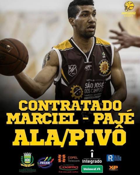 Ala/Pivô Marciel Pajé é o oitavo jogador anunciado pelo Campo Mourão Basquete