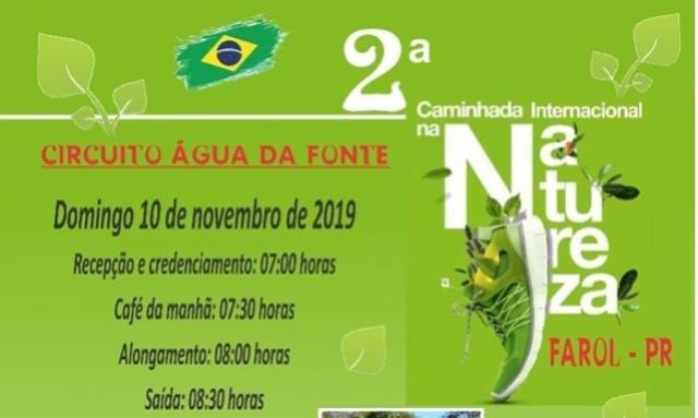 Farol e Emater promovem a 2ª Caminhada Internacional na Natureza dia 10