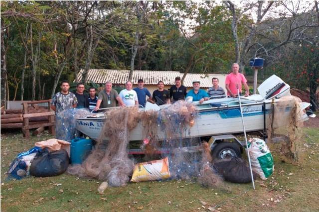 Materiais ilegais de pesca são apreendidos no Rio Paraná e afluentes