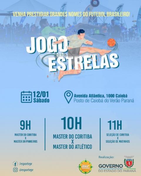 Jogos das Estrelas movimenta Verão Paraná neste sábado