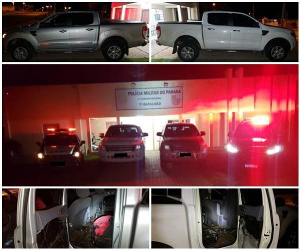 Policiais do 7º BPM apreendem dois veículos preparados para o contrabando