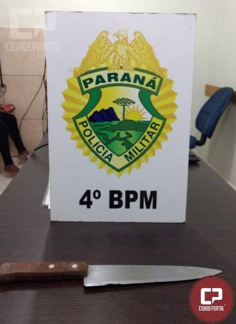 PM de Maringá prende mulher por tentativa de homicídio