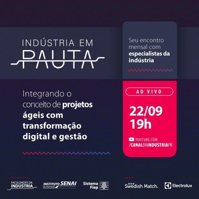 Eventos gratuitos vão discutir as necessidades das indústrias paranaenses no cenário pós-pandemia