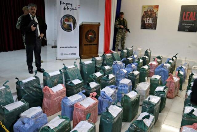 Paraguai faz apreensão recorde de US$500 milhões em cocaína