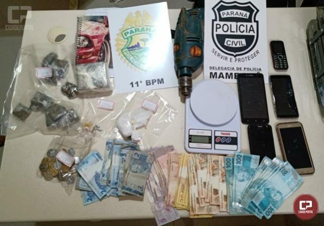 Policiais Civis e Militares de Mamborê derrubam mais um ponto de tráfico de drogas na cidade