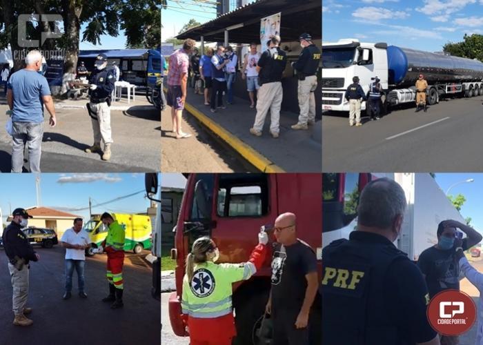 Coronavírus: PRF participa de ações em apoio aos caminhoneiros no Paraná