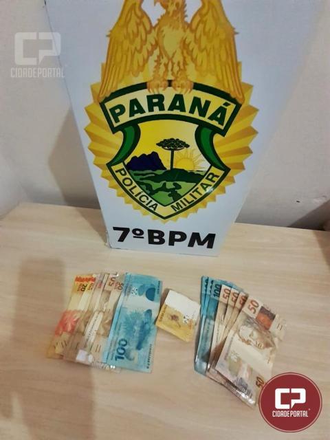 Dupla acaba presa pela PM após assaltar mercearia em Moreira Sales