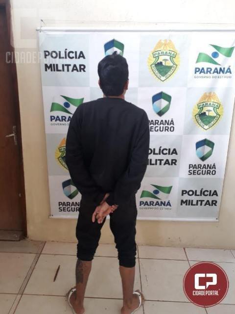Polícia Militar de Cianorte cumpre mandado de prisão pelo crime de tráfico de drogas