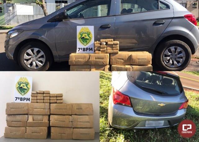 135 kg de maconha foram apreendidos pela Polícia Militar de Moreira Sales