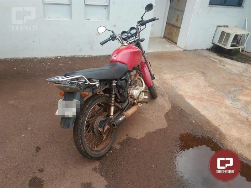 Polícia Militar de Campina da Lagoa apreende motocicleta adulterada e prende motociclista