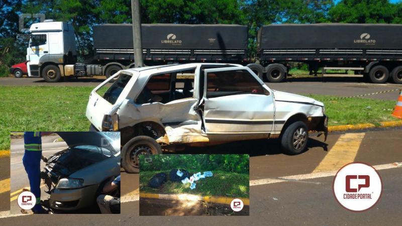 Acidente na BR-369 no trevo de acesso a Ubiratã deixa condutor com ferimentos graves