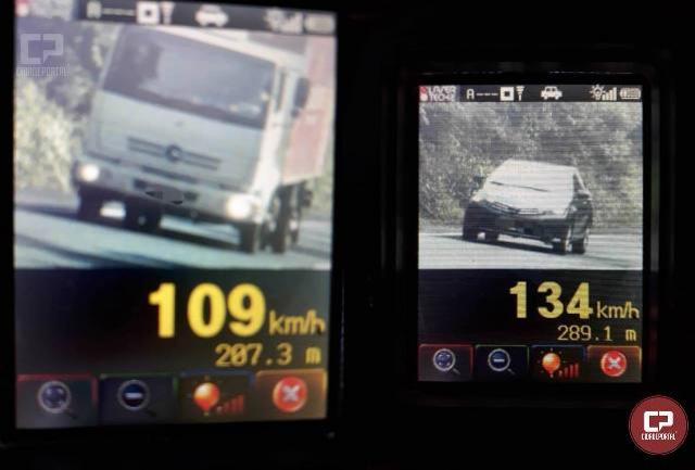 21 motoristas foram flagrados acima da velocidade durante operação radar na PR-323