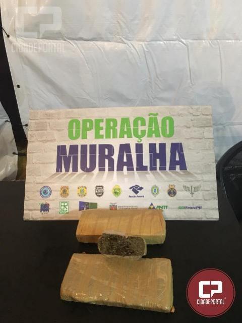 BPFRON em ação conjunta prende homem com 2kg de maconha em Guaíra
