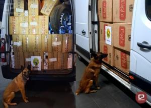 BPFron apreende veículo com rádio comunicador e carga de cigarros na cidade Palotina