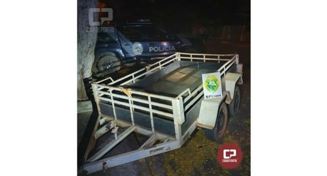 BPFRON recupera um reboque na cidade de Terra Roxa