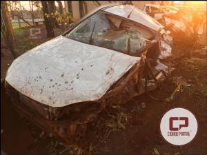 Acidente automobilístico ceifa a vida de uma pessoa na noite de sábado entre Assis Chateaubriand a Brasilândia do Sul na PR-486