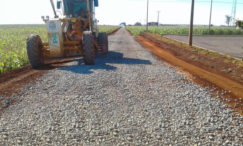 Secretaria de Agricultura realiza novos trabalhos para manutenção de solo brita