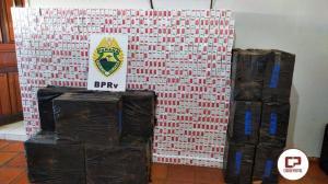 PRE de Assis Chateaubriand apreende 17 mil maços de cigarros contrabandeados