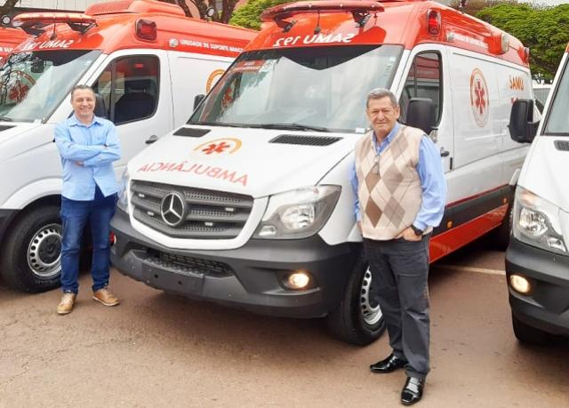 Assis Chateaubriand recebe nova ambulância para o Samu