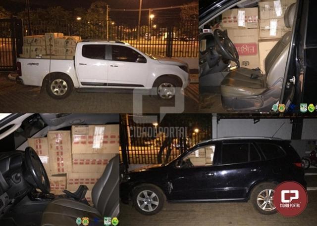 PF e BPFron apreendem carregamento de cigarros contrabandeados em Terra Roxa