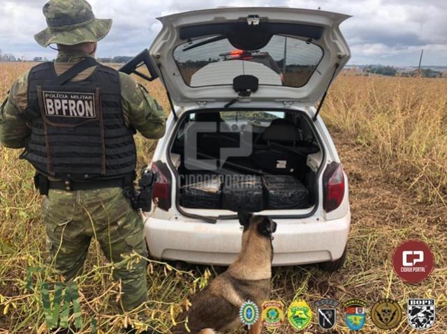 BPFron e PF apreendem veículo carregado com contrabando durante Operação Hórus em Terra Roxa