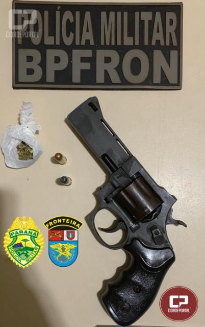 BPFRON apreende arma de fogo, droga e munição em Terra Roxa durante Operação Hórus