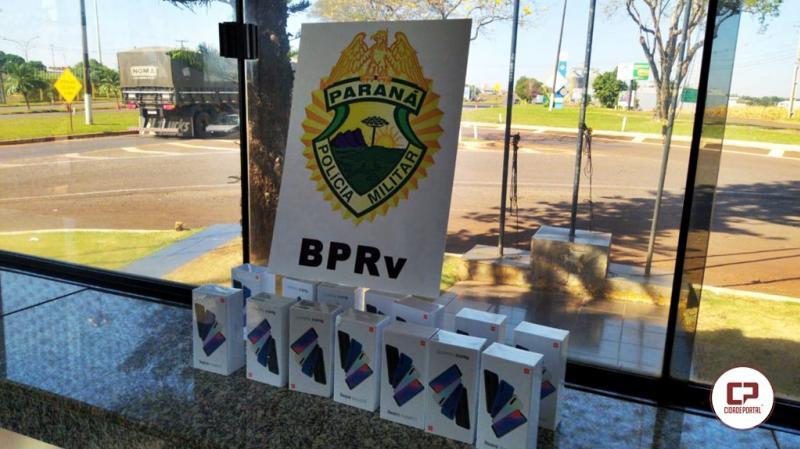 Smartphones contrabandeados foram apreendidos pela PRE de Assis em ônibus de linha