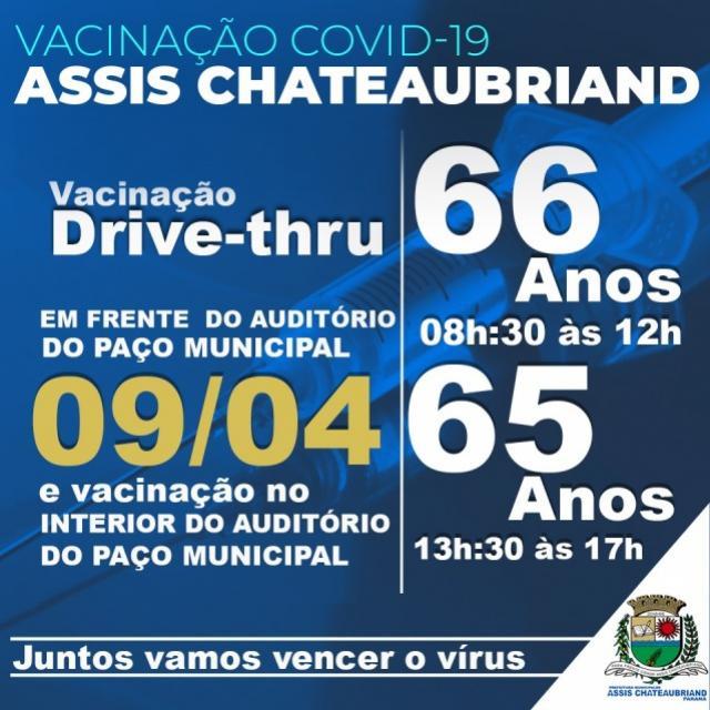 Vacinação contra Covid - Primeira dose será retomada em Assis Chateaubriand