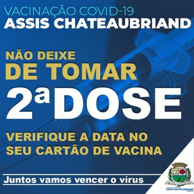 Secretaria de Saúde alerta para importância da segunda dose contra Covid-19