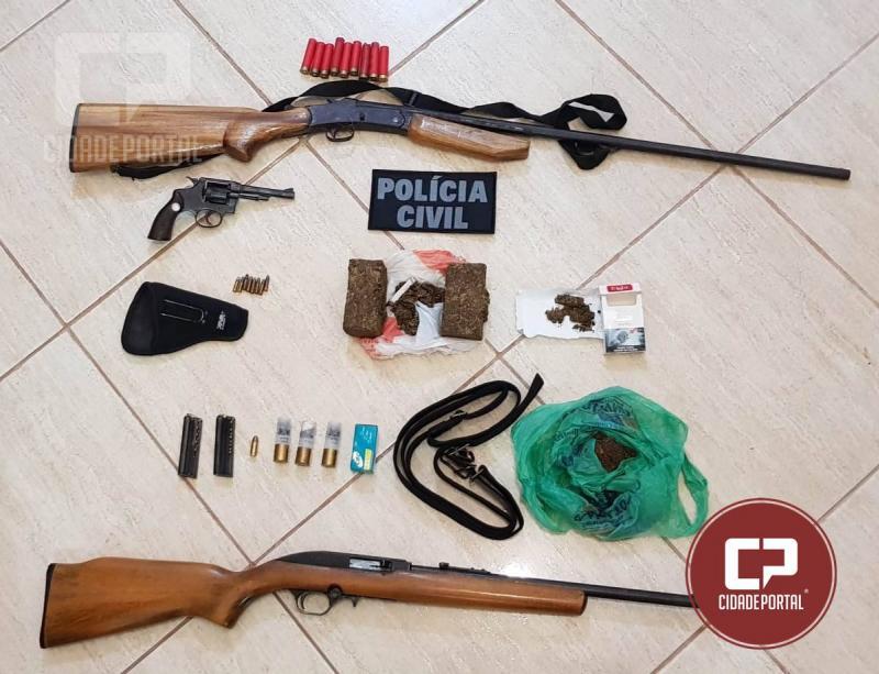 Operação Policial em Icaraíma apreende drogas, armas, munições e cumpre mandados de prisão