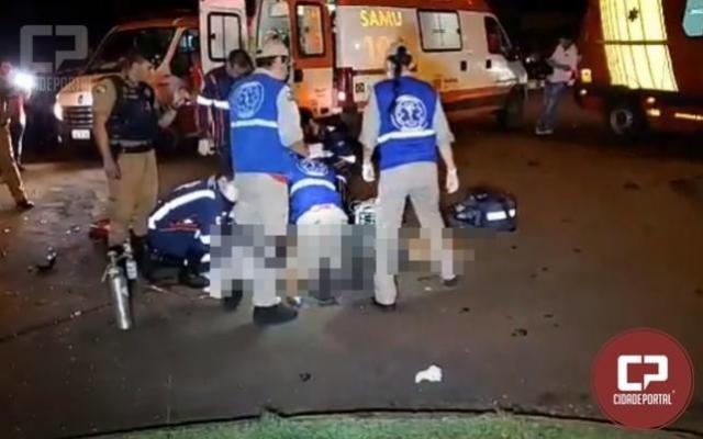 Jovem de 19 anos morre após colisão violenta no centro de Campo Mourão