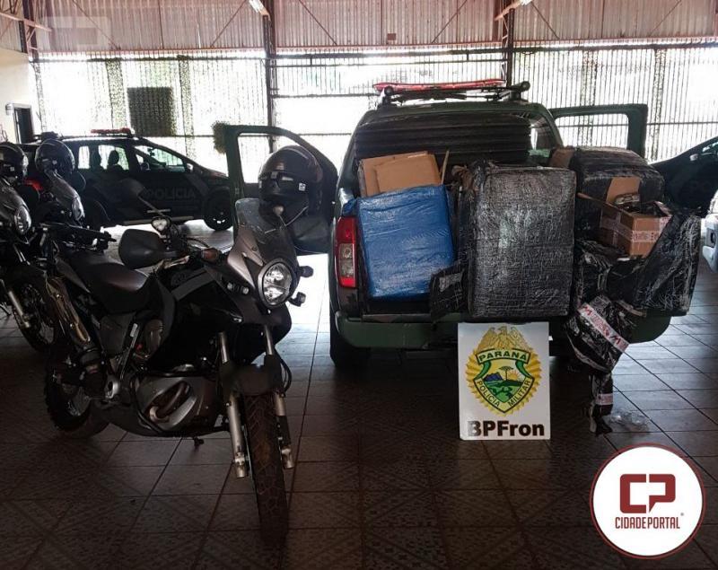 BPFRON apreende contrabando após patrulhamento na cidade de Guaíra