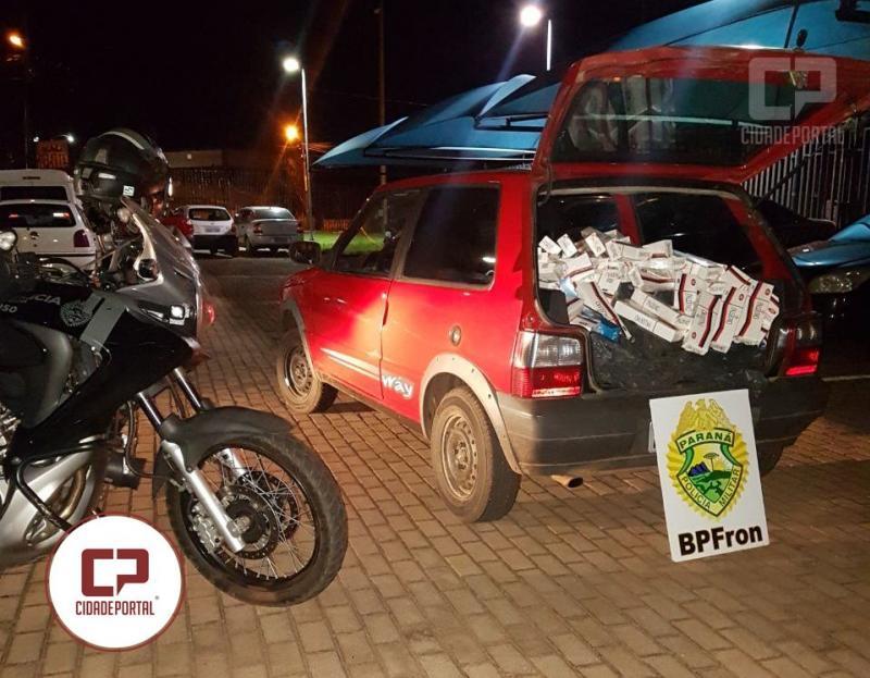 BPFRON apreende veículo carregado de contrabando na cidade de Marechal Cândido Rondon - Pr