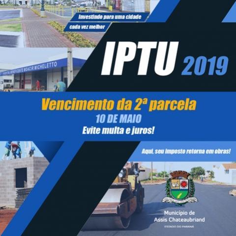 Prazo para pagamento da 2ª parcela do IPTU vence nesta sexta em Assis Chateaubriand