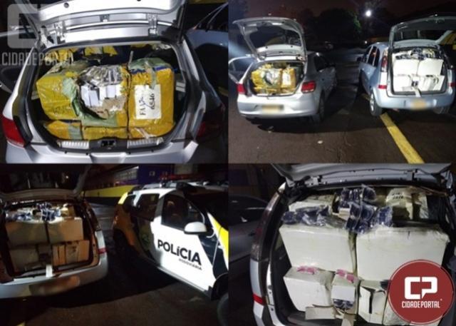 Rotam da 3ª Cia apreende dois veículos carregados com mercadorias contrabandeadas em Jesuítas