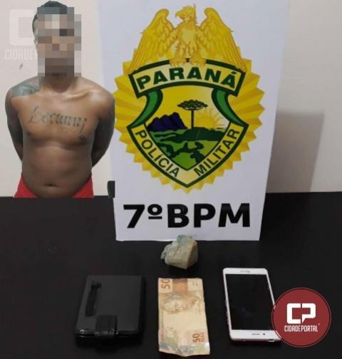 Polícia Militar de Moreira Sales apreende drogas e prende traficante