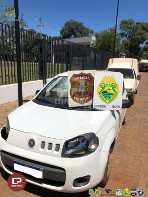 BPFron e PF apreendem comboio com quatro veículos carregados com contrabando em Terra Roxa