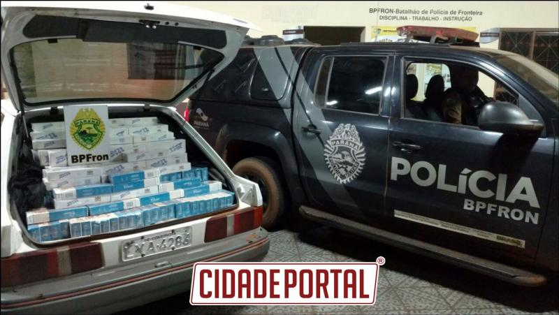 BPFRON apreende veículo carregados com cigarros contrabandeados