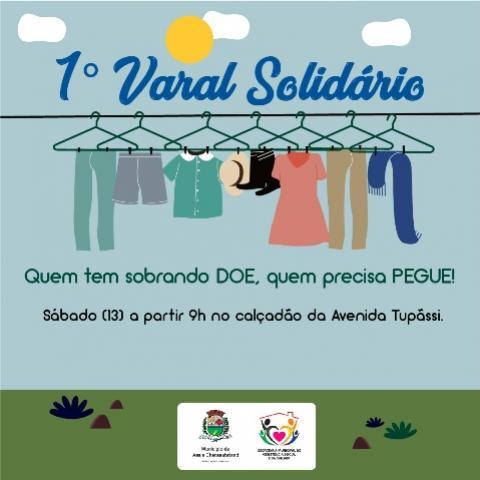 Assistência Social de Assis realiza o I Varal Solidário