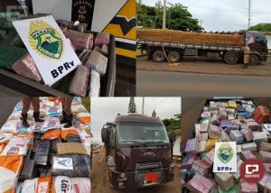 PRE de Assis Chateaubriand apreende caminhão carregado com mais de 5 toneladas de maconha
