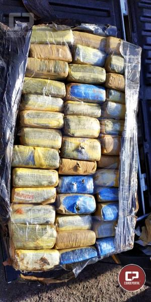 Equipe Posto Móvel 3ª CIA de Cascavel apreende 225 KG de entorpecentes em Ouro Verde do Oeste