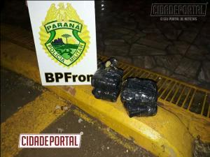 Maconha e munições de uso restrito são apreendido pelo BPFRON em Realeza-PR