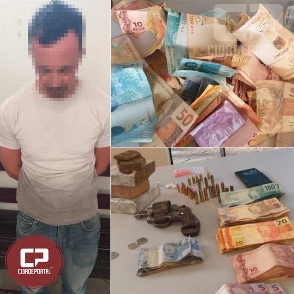 Polícia Militar de Janiópolis prende homem por tráfico de entorpecentes