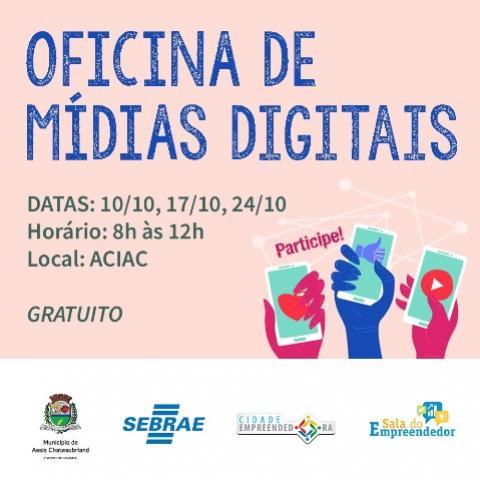 Oficina de Mídias Digitais em Assis tem inscrições abertas e vagas limitadas