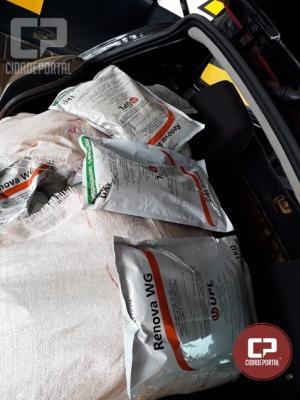 Posto Policial Rodoviário de Assis Chateaubriand apreende 200 kg de agrotóxicos contrabandeados